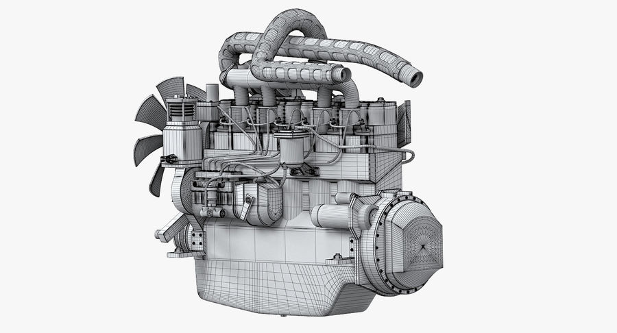 Diesel Engine royalty-free 3d model - Preview no. 8
