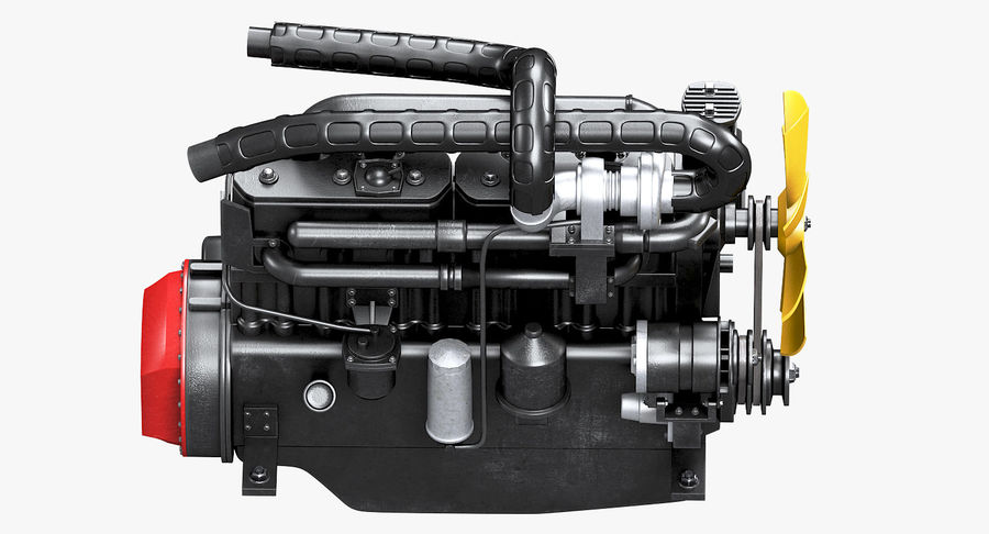Diesel Engine royalty-free 3d model - Preview no. 14