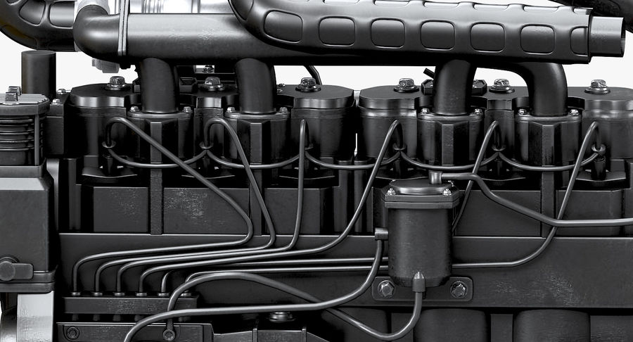 Diesel Engine royalty-free 3d model - Preview no. 5
