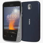 Nokia 1 Dark Blue 3d model