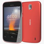 Nokia 1 rosso caldo 3d model