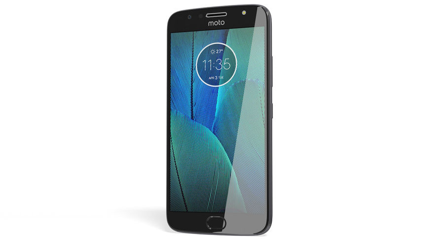 Motorola Moto G5S Plus Gray royalty-free 3d model - Preview no. 4