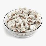Popcorn in Bowl 3d model