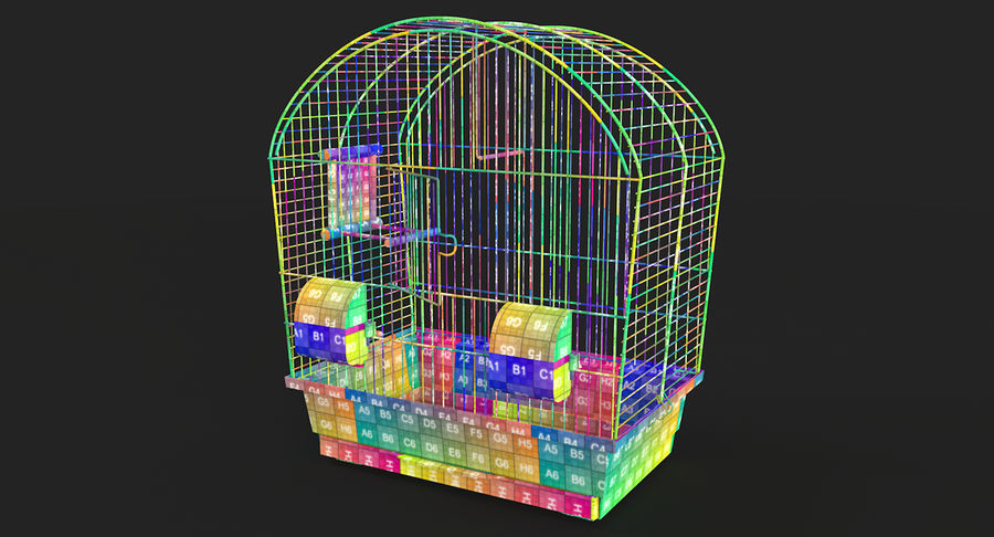 Bird Cage royalty-free 3d model - Preview no. 18