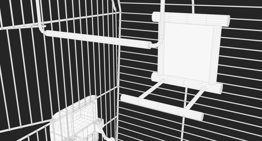 Bird Cage royalty-free 3d model - Preview no. 15