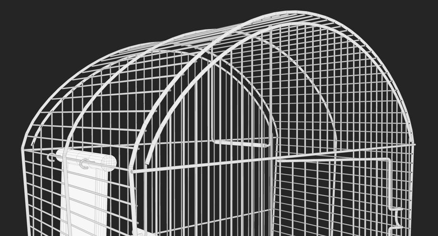 Bird Cage royalty-free 3d model - Preview no. 16