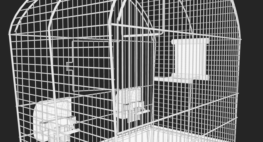 Bird Cage royalty-free 3d model - Preview no. 14