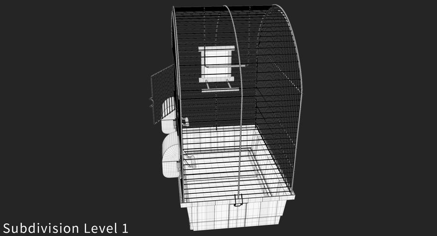 Bird Cage royalty-free 3d model - Preview no. 12