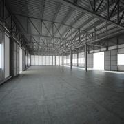 Hall (fabrik, lager) 3d model