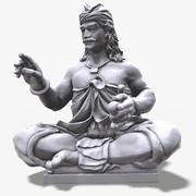 Indonésie Sculpture Guerrier Raw Scan 1M 3d model