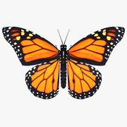Borboleta monarca 3d model