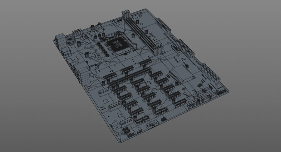 Asus B250 Mining Expert royalty-free 3d model - Preview no. 9