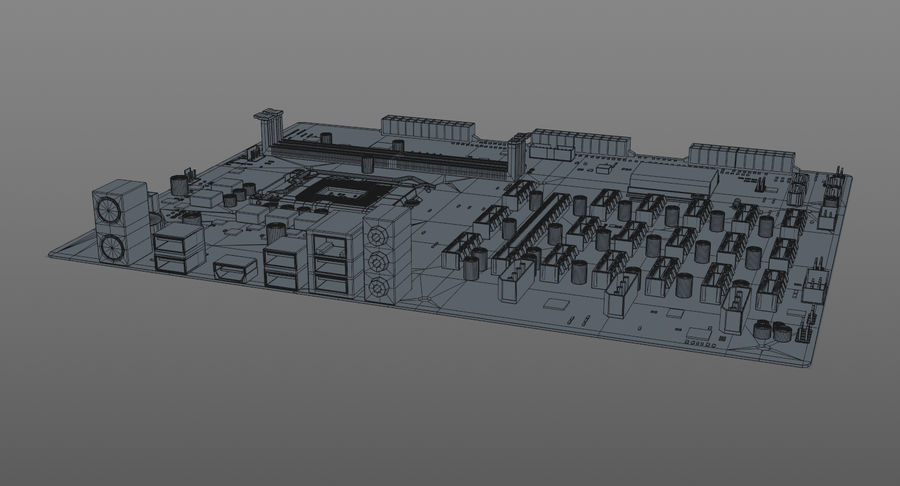 Asus B250 Mining Expert royalty-free 3d model - Preview no. 11