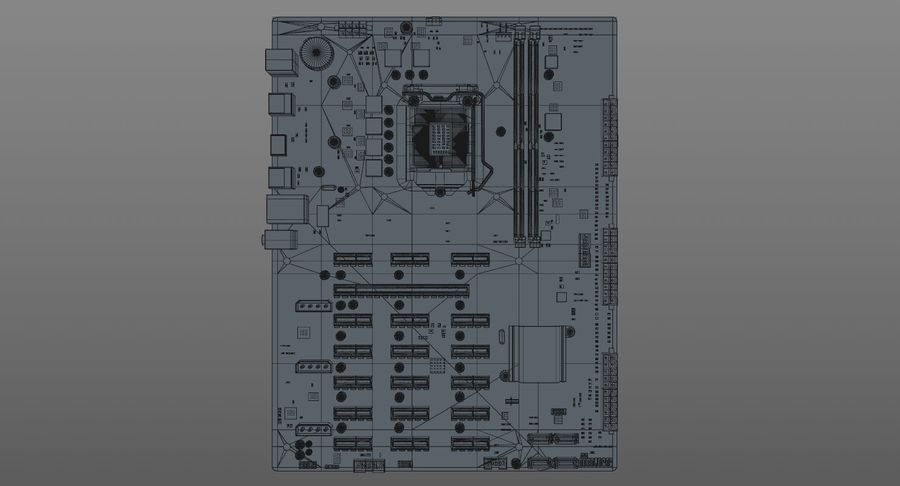 Asus B250 Maden Uzmanı royalty-free 3d model - Preview no. 14