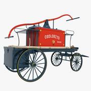 Old Fire Cart 3d model