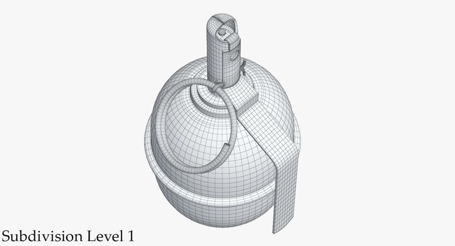 Grenade RGD 5 royalty-free 3d model - Preview no. 11