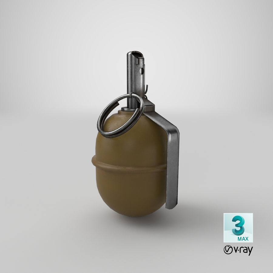 Grenade RGD 5 royalty-free 3d model - Preview no. 17