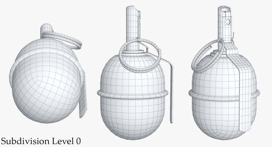 Grenade RGD 5 royalty-free 3d model - Preview no. 18