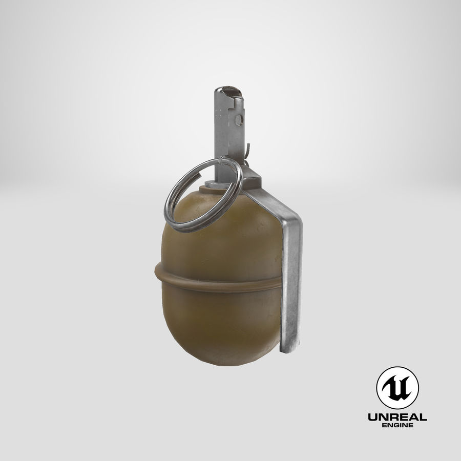 Grenade RGD 5 royalty-free 3d model - Preview no. 30