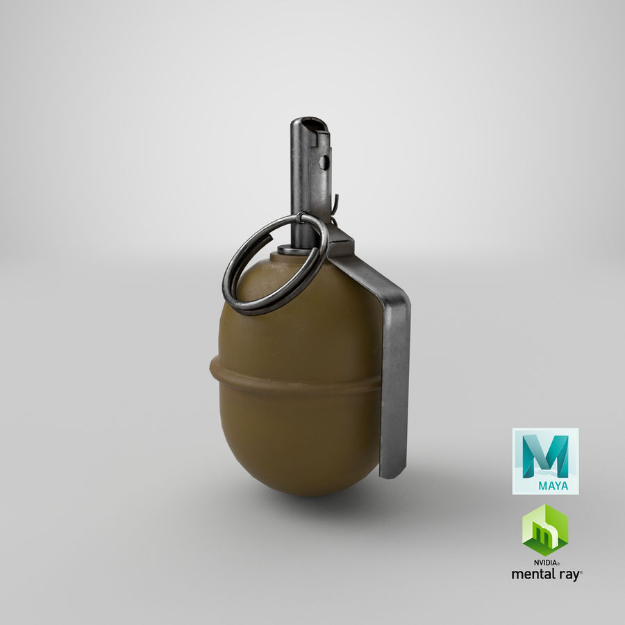 Grenade RGD 5 royalty-free 3d model - Preview no. 25