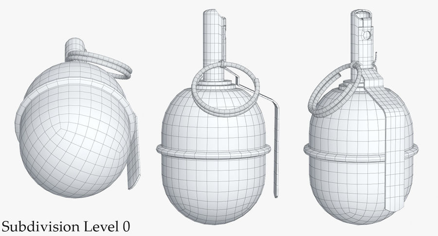 Grenade RGD 5 royalty-free 3d model - Preview no. 12