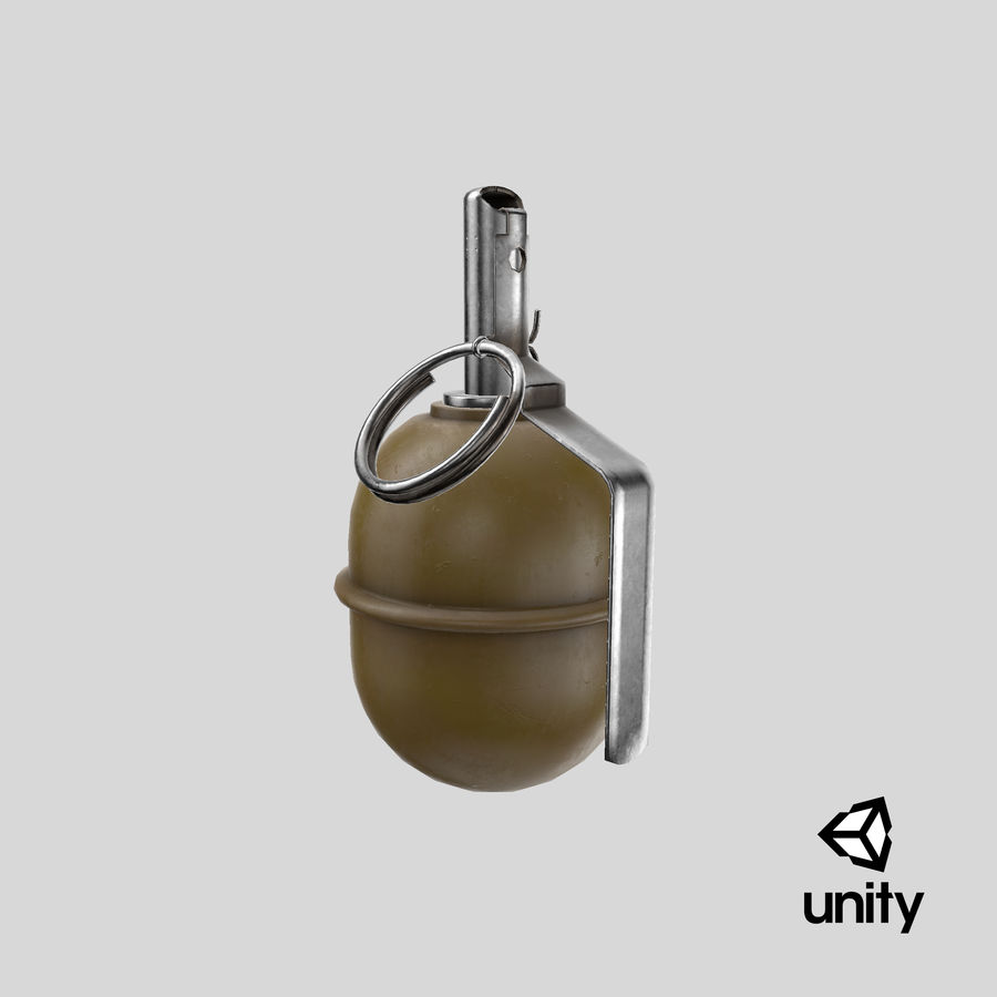 Grenade RGD 5 royalty-free 3d model - Preview no. 20