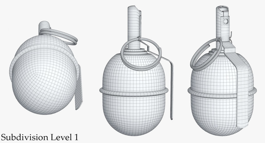 Grenade RGD 5 royalty-free 3d model - Preview no. 13