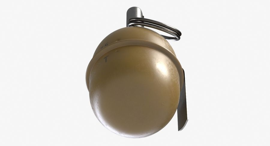 Grenade RGD 5 royalty-free 3d model - Preview no. 7