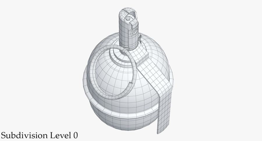 Grenade RGD 5 royalty-free 3d model - Preview no. 10