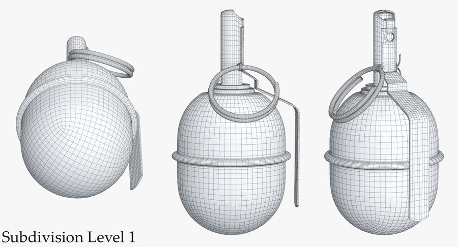 Grenade RGD 5 royalty-free 3d model - Preview no. 19