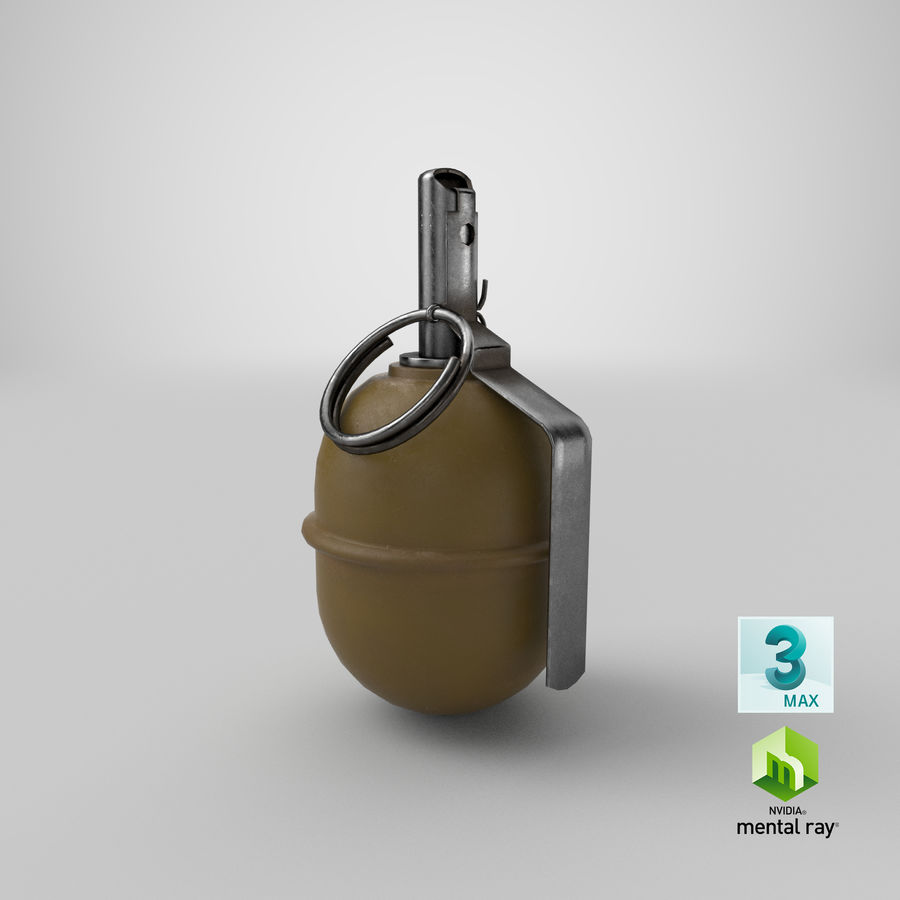 Grenade RGD 5 royalty-free 3d model - Preview no. 28