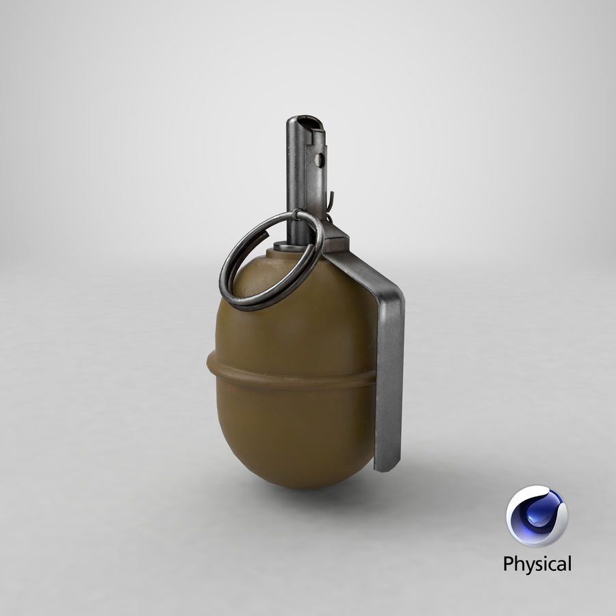 Grenade RGD 5 royalty-free 3d model - Preview no. 21
