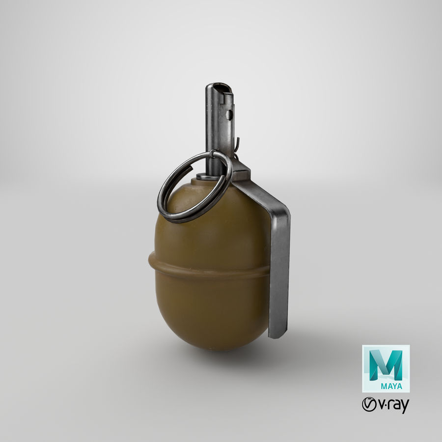 Grenade RGD 5 royalty-free 3d model - Preview no. 15