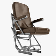 Old Airplane Pilot Chair 02 3d model