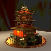 Chiński starożytny dom 3d model