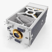 Satellite with Collapsed Panels 3d model