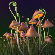 Magische paddenstoelen 3d model