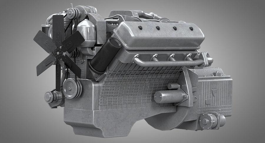 Дизель V8 Двигатель ЯМЗ royalty-free 3d model - Preview no. 2
