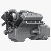 Diesel V8 Engine YaMZ 3d model