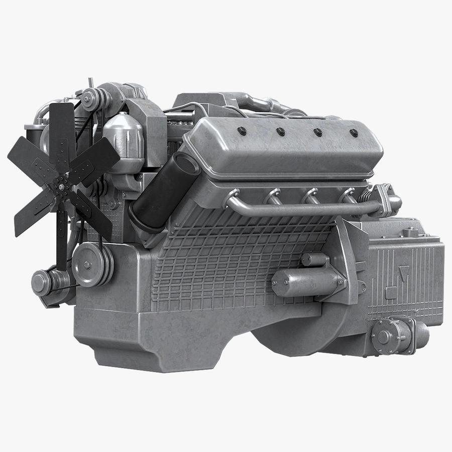 Дизель V8 Двигатель ЯМЗ royalty-free 3d model - Preview no. 1