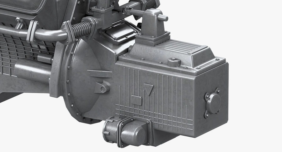 Дизель V8 Двигатель ЯМЗ royalty-free 3d model - Preview no. 6