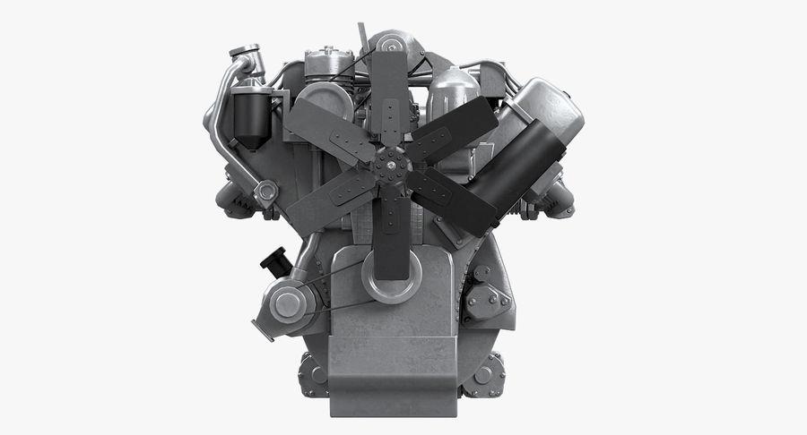 Дизель V8 Двигатель ЯМЗ royalty-free 3d model - Preview no. 10