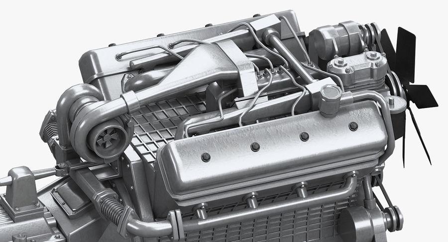 Дизель V8 Двигатель ЯМЗ royalty-free 3d model - Preview no. 5