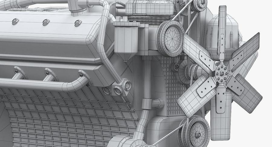 Дизель V8 Двигатель ЯМЗ royalty-free 3d model - Preview no. 9