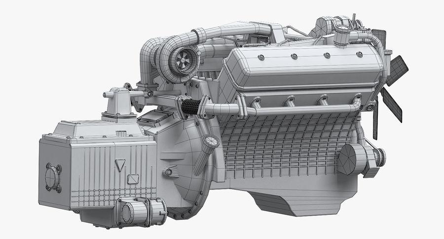 Дизель V8 Двигатель ЯМЗ royalty-free 3d model - Preview no. 8