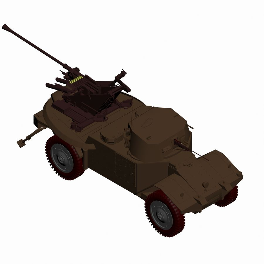 Vehicle Military Concept Car royalty-free 3d model - Preview no. 13