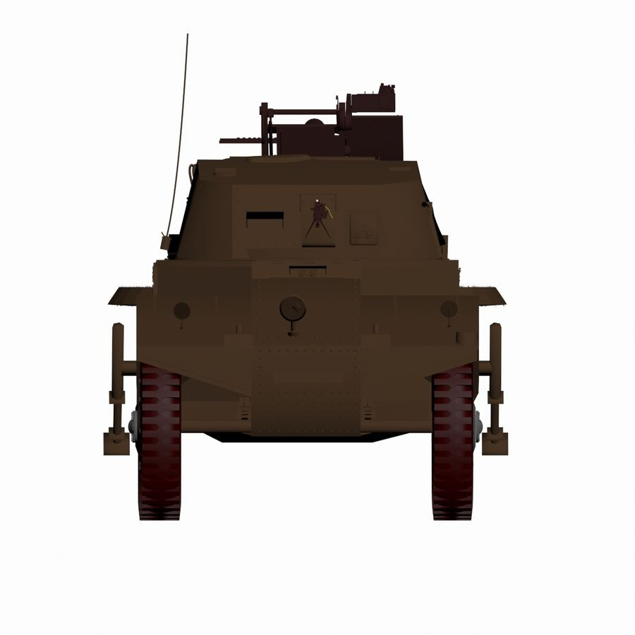 Vehicle Military Concept Car royalty-free 3d model - Preview no. 4