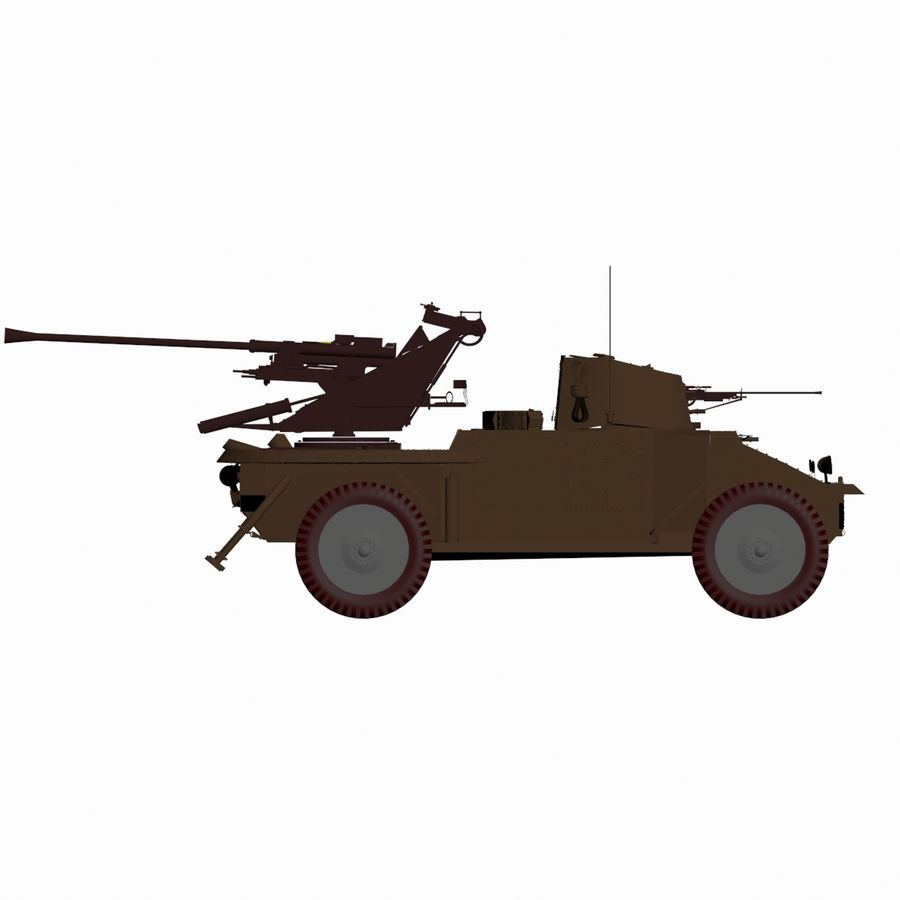 Vehicle Military Concept Car royalty-free 3d model - Preview no. 2