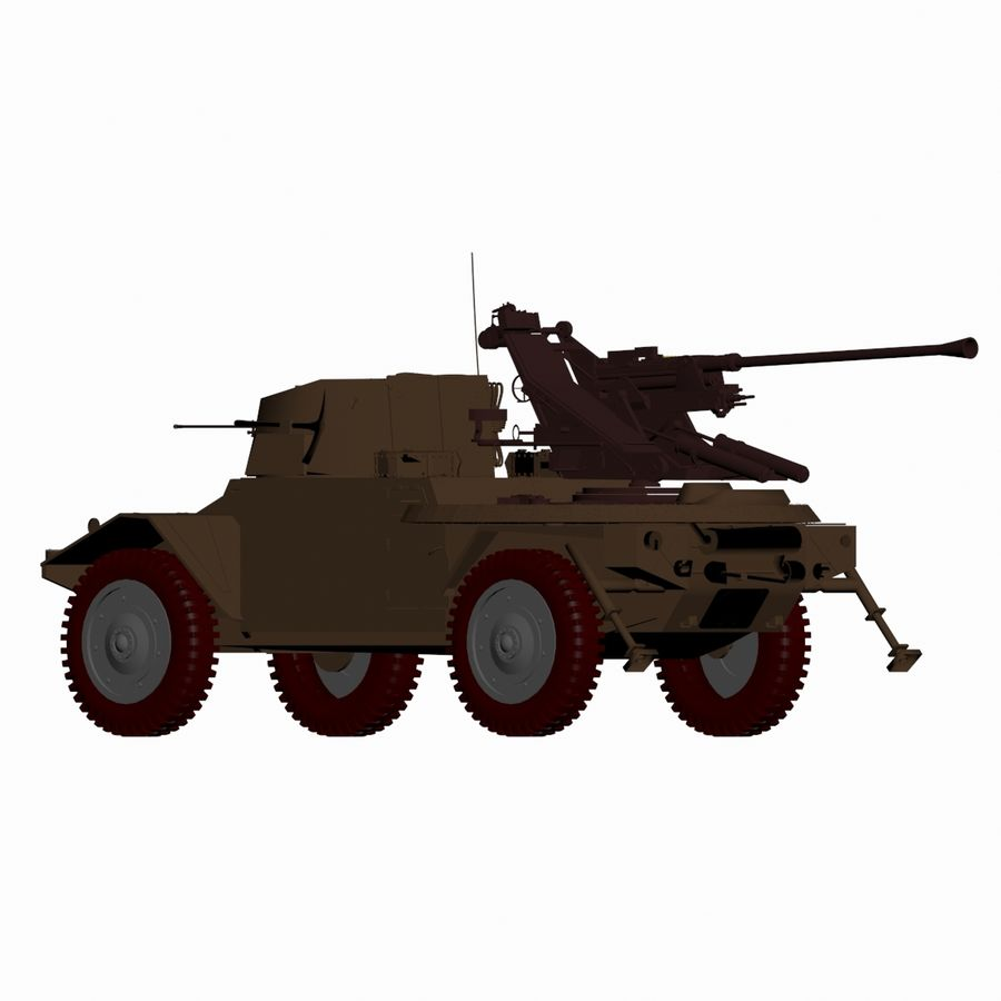 Vehicle Military Concept Car royalty-free 3d model - Preview no. 7