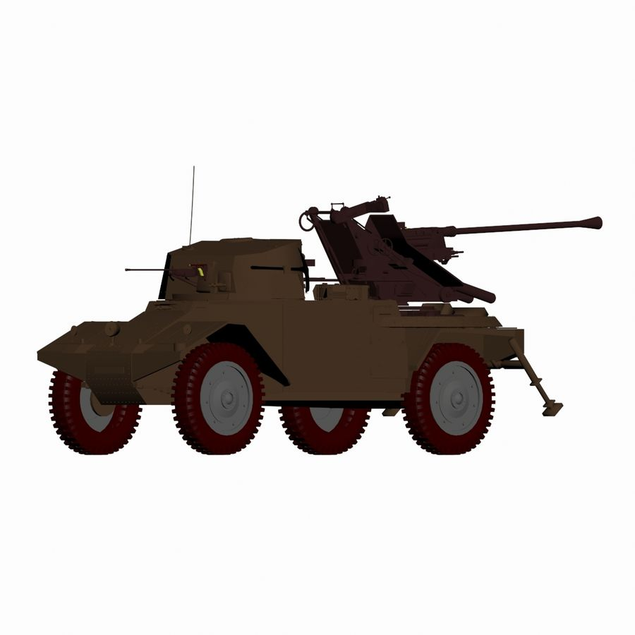 Vehicle Military Concept Car royalty-free 3d model - Preview no. 5